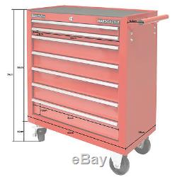 Red Metal 7 Drawer Lockable Tool Chest/box Storage Roller Cabinet/rollcab Cab