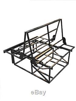 Rock and roll bed upholstered 3/4 T4 T5 bongo transit vivaro camper vito belts