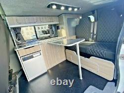 Rock n roll bed VW T4 T5 T6 3/4 Transit Vivaro Trafic with Seatbelts gas assist