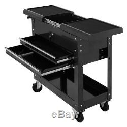Rolling Mechanics Tool Cart Trolley Utility Storage Cabinet Sliding Top WithDrawer