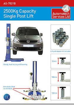STATIC SINGLE POST VEHICLE LIFT / 1 POST CAR RAMP / 2500g CAPACITY 240V