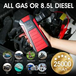 SUAOKI 2500A 25000mAh Jump Starter Power Bank Booster Battery for 12V Car Boat