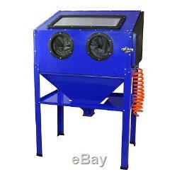 Sand Blasting Cabinet Portable Work Station Abrasive Bead Grit Sandblaster 220L