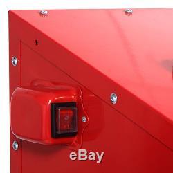 Sandblaster Bead Sand Grit Blasting Blaster Blast Sandblasting Cabinet 220L LED