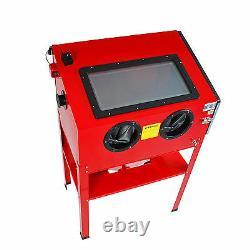 Sandblaster Bead Sand Grit Sandblasting Blast Cabinet 220L +Dust Collector New
