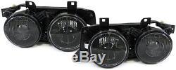 Scheinwerfer schwarz Paar für BMW 5er E34 88-95 + 7er E32 88-94