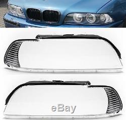 Scheinwerferglas Set Satz Streuscheibe rechts links für BMW 5er E39 Facelift