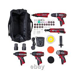 Sealey CP1200COMBO2 6 Pce 12v Cordless Power Tool Kit & 2 1.5Ah Li-ion Batteries