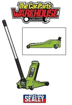 Sealey Trolley Jack 2 tonne LOW ENTRY Rocket Lift Hi Vis / Viz Green 2001LEHV