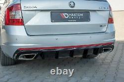 Skoda Octavia RS Heckansatz Heckdiffusor Heckschürze Diffusor RS 5e 3 Combi Limo