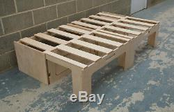 Sliding Camper Van Bed / Storage 1900mm in birch ply (BED-007)