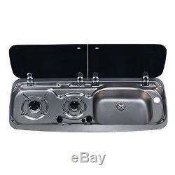 Smev Dometic 9222 Campervan Sink & Cooker Combination Unit kit & Template RH 10L