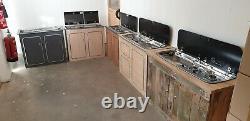Smev Dometic 9222 Campervan Sink & Cooker / Hob Combi Unit KIT & Template LH 10L