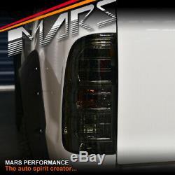 Smoked Black LED Tail Lights for TOYOTA HILUX VIGO UTE TRD SR5 2004-2015 Pick up