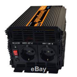 Spannungswandler 2000W 4000 Watt 12V auf 230V Wechselrichter Inverter KFZ Kabel