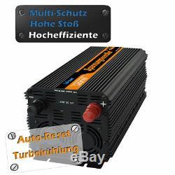 Spannungswandler 3000W 6000 WATT 24V 230V Wechselrichter LCD-Anzeige Fernbedie