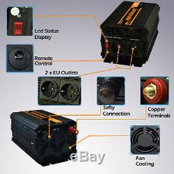 Spannungswandler 3000 6000 W 12V 230V Wechselrichter KFZ Inverter Konverter