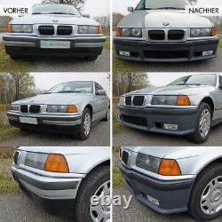 Stoßstange Vorne + GT Evo Lippe +Zubehör für M3 + ABE passt für ALLE BMW E36 +M