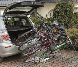 Super Deal Titan 4 Towbar Mounted Tilting 4 Bike Rack / 4 Cycle Carrier 4x4