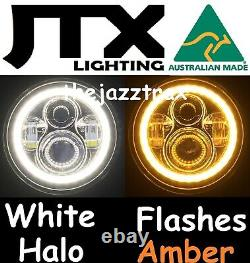 Suzuki Sierra SJ80 SJ80V LJ80 1pr LED Halo 7 Headlights Lights Flash AMBER