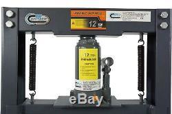 SwitZer Shop Press Heavy Duty Hydraulic Workshop Garage Floor Standing 12 Ton