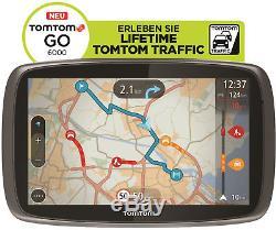 TomTom GO 6000 M Europa Lifetime HD-Traffic + Free 3D Maps EU XXL Tap&Go GPS WOW