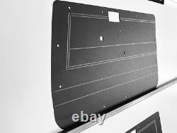 Toyota LandCruiser 75 78 79 Series Manual ABS Panels Rugged & Waterproof Black