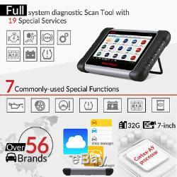 UK Autel MaxiCOM MK808 EOBD Car Engine ECU Diagnostic Scanner Tool Tablet Laptop