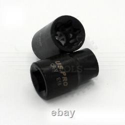 US PRO Tools 17pc 3/8 & 1/2 dr Impact E-Torx Socket Sockets Set E5 to E24 3420