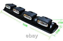 Universal 4x4 Roof Top Bar Driving Pod Lights Lens Offroad Fog Spot Head Lamps