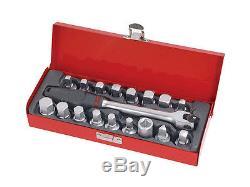 Universal Drain Plug Key Socket Set Sump Oil Axle Sockets Hand Tool Car Garage