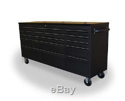 Us Pro Tools Tool Cabinet Chest Box Black Bench 72 Heavy Duty Finance Available