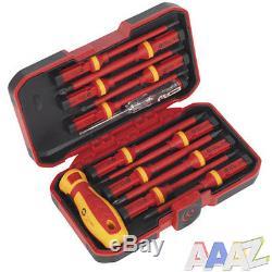 VDE Screwdriver Set Flat Philips Pozi Iinterchangeable Insulated Tool 1000 Volt
