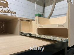 VW Caddy Camper Van Sliding Ply Pod Bed, Seat, Table & Drawers VAN FURNITURE