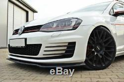VW GOLF 7 GTD GTI Diffusor Lippe Frontansatz Frontlippe Spoiler V. 2 Hochglanz