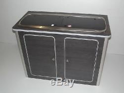 VW T4 T5 T6 Vito Hacienda Black Lightweight ply Camper kitchen pod Camper Van