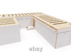 VW T5 T6 U Shape Bed System Camper Van U-Shape Beds with Cabinet + Oak Worktop