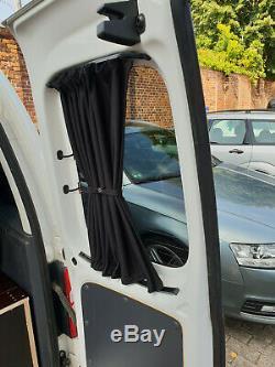 Vw T4 Maß Gardinen Vorhänge Sonnenschutz Transporter Caravelle Multivan Schwarz