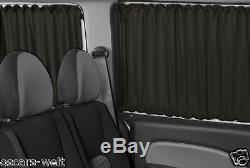 Vw T5 & T6 Gardinen Vorhänge Transporter Caravelle Multivan Schwarz Pr85