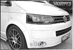 Vw T5 Transporter 10-15 Twin Drl Headlights Head Lamp Shark Eye Daytime Led's