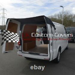 Vw T5 Transporter (2003 2015) Rear Barn Door Cover Black 401