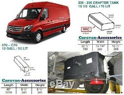 Water Tank Kit Fresh & Waste for Crafter/Sprinter D. I. Y. Kit van to Campervan