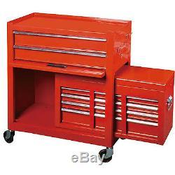 Werkstattwagen Werkzeugwagen Rollwagen Mit Werkzeugkiste 9 Fächer
