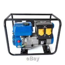 Wolf 3200w 230v 110v Dual Voltage 6.5HP 4KVA Portable Petrol Generator