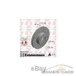 Zimmermann Sport-bremsscheiben + Beläge Vorne Für Bmw 5-er E60 E61