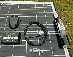 100 Watt Motorhome Camper Caravan Panneau Solaire Kit Complet Contrôleur Led 100w