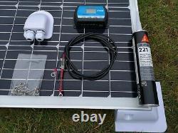 100 Watt Motorhome Van Caravane Camper Panneau Solaire Kit Complet Contrôleur LCD 100w