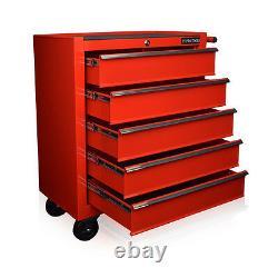 102 Us Pro Red Tools Mécanique Outils Tool Cabinet De Boîte À Rouleaux 5 Tiroirs