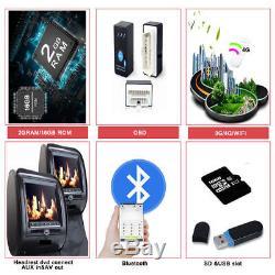 10.1 Double 2 Din Android Gps De Voiture Nav Dab Obd 10 Pouces À Écran Tactile Cam DVD Hd