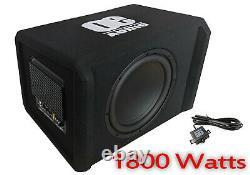 12 Basse Boîte De Voiture Audio Sous Woofer Construit En Ampli Active 1800 Watts Loud